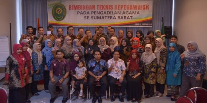 Bimtek Kepegawaian Tahun 2019 dihadiri Kasubbag dan Operator Kepegawaian PA se-Sumbar