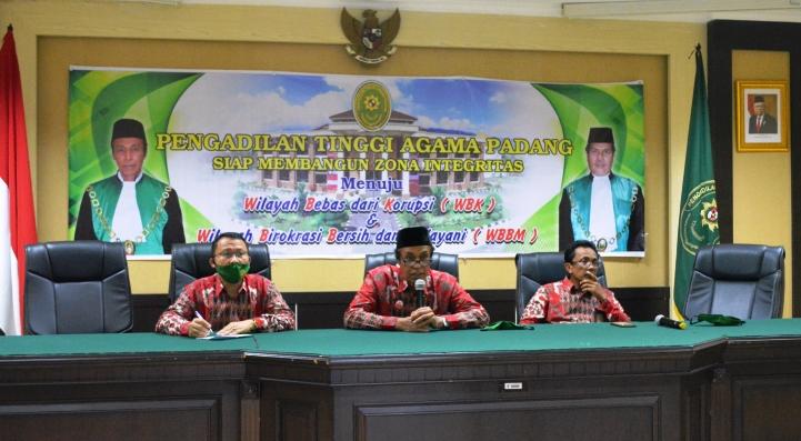 Rapat Koordinasi PTA Padang dan Pengadilan Agama se Sumatera Barat Secara Daring