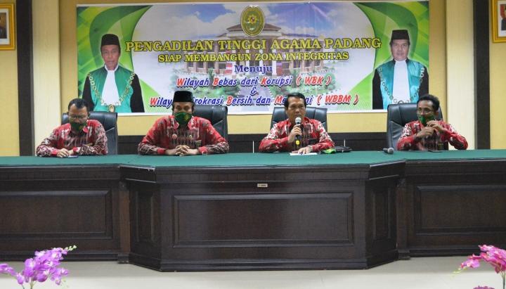 Kesiapan Pembangunan Zona Integritas menuju WBK dan WBBM di PTA Padang