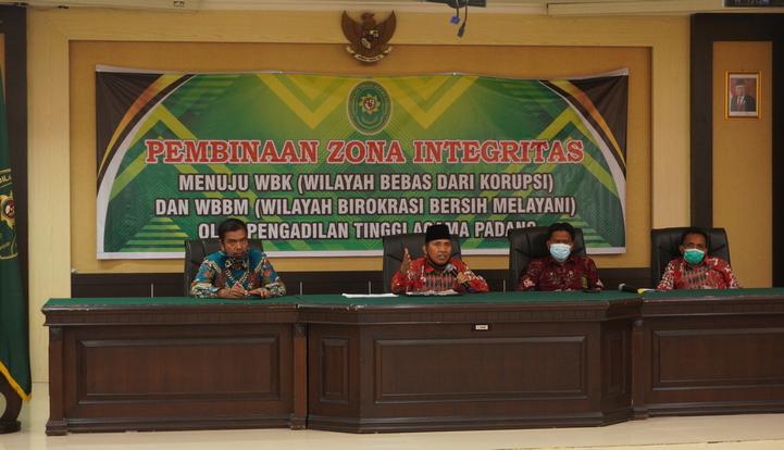 Pembinaan Zona Integritas Menuju WBK dan WBBM Oleh PTA Padang