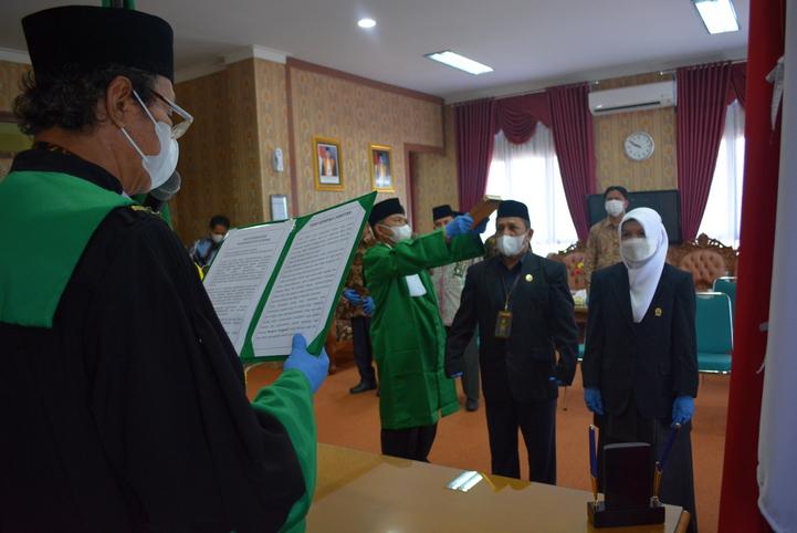 Pengambilan Sumpah Jabatan dan Pelantikan Panitera Pengganti PTA Padang