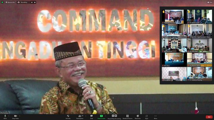Bimtek Sita dan Eksekusi Oleh YM Ketua Kamar Peradilan Agama Mahkamah Agung RI