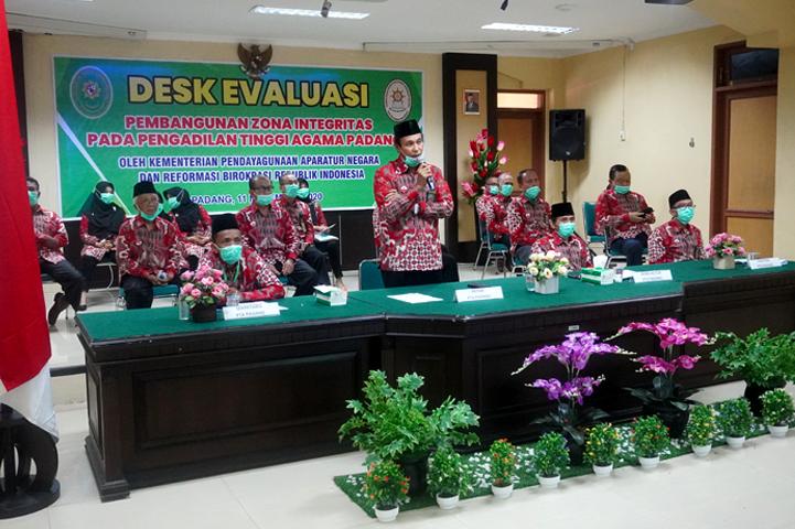 Pelaksanaan Desk Evaluasi PTA Padang Oleh Kemenpan RB