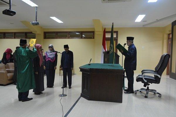Pelantikan Kasubbag KL PTA Padang