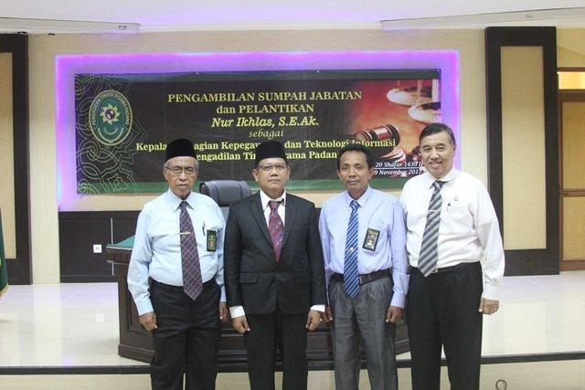 Pelantikan Kasubbag Kepegawaian dan TI PTA Padang
