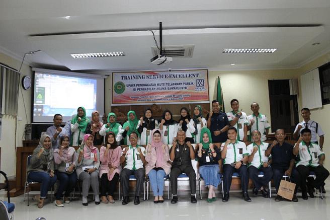 Tingkatkan Pelayanan PA Sawahlunto Adakan Pelatihan Service Excellent