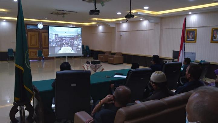PTA Padang Ikuti Bimbingan Pelaksanaan Pembangunan Zona Integritas Badilag