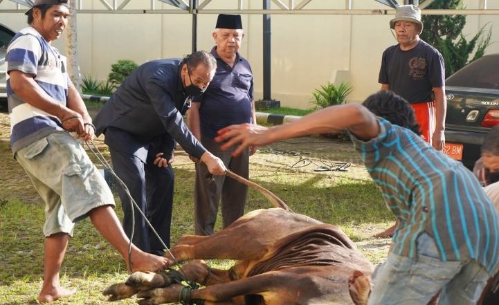 Pelaksanaan Penyembelihan Hewan Qurban Dalam Rangka Memperingati Hari Raya Idul Adha 1441 H