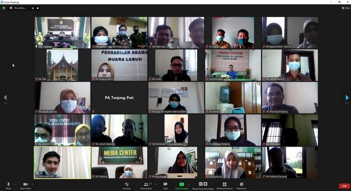 PTA Padang Gelar Rapat Koordinasi Penilaian Website Tahun 2021