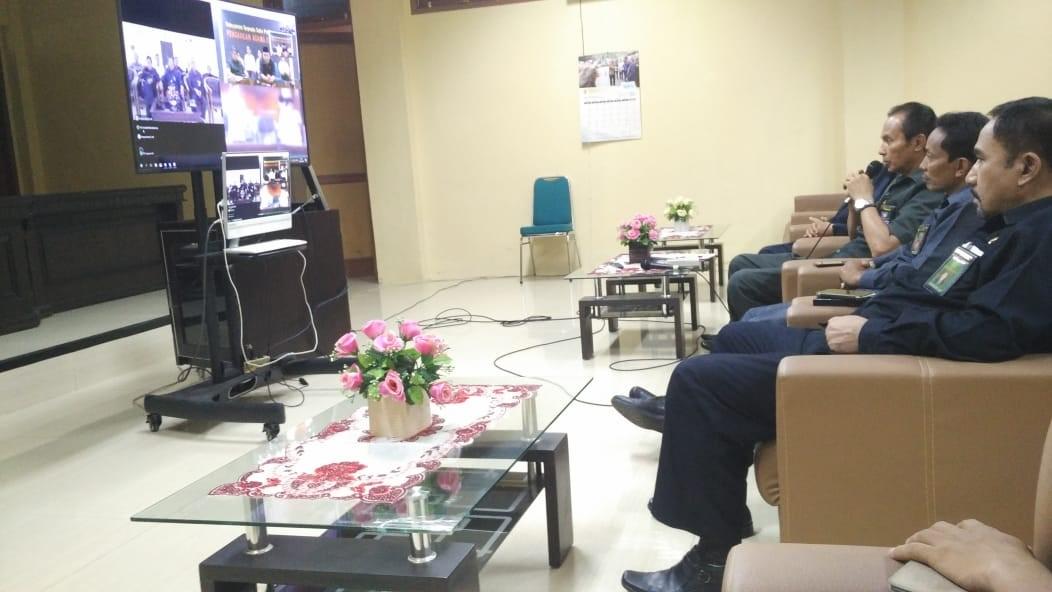 Rapat Koordinasi dan Silaturahmi melalui Teleconference bersama Direktur Jenderal Badilag Mahkamah Agung RI - 28/05