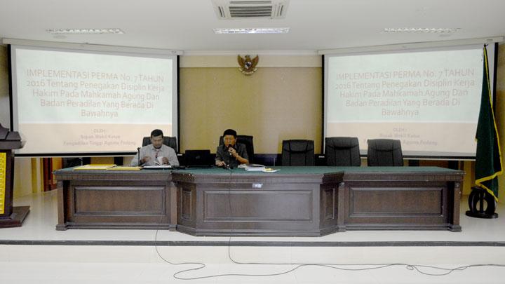Hadiri Peresmian 85 Pengadilan, WKPTA Padang lakukan transfer knowledge