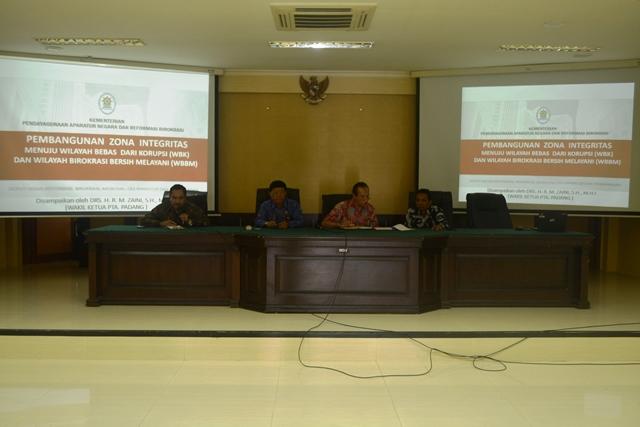 Sosialisasi dan Sharing knowledge Zona Integritas menuju WBK/WBBM